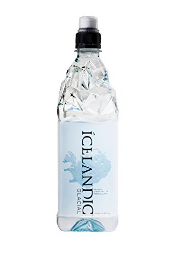 Icelandic Glacial Natural Spring Water, 750 Milliliter, 12 Count - Glacial Ice Crystal