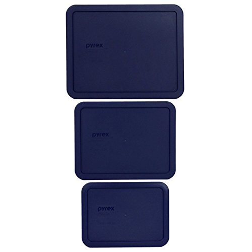 Pyrex 7212-PC (1) 1104628 11 Cup & 7211-PC (1) 1113820 6 Cup & 7210-PC (1) 1113816 3 Cup Blue Lid (3-Pack)