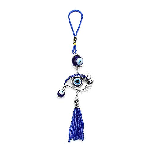 Lucky Car Interior Decoration Evil Eye Hanging Pendant Car Or Home Wall Hanging Ornament Accessories (Blue)