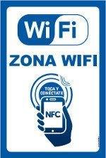 Cartel Resistente PVC - Zona WiFi Toca y conectate ...
