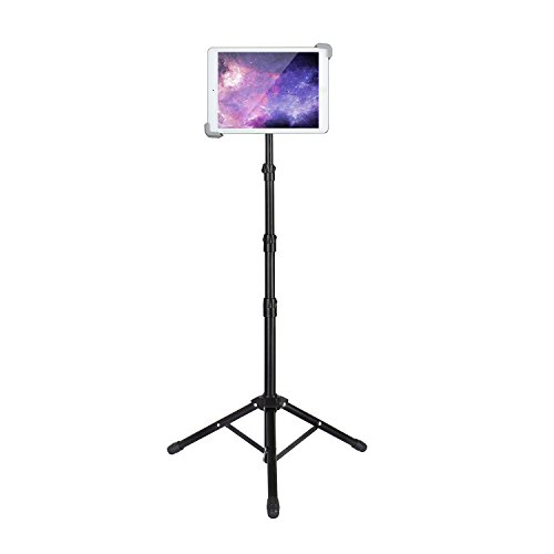 Elitehood Ipad Tripod Stand, Up to 65.3 Inch Height Adjustable Foldable Floor Tablet Stand With 360° Rotating Holder for iPad 1,2,3,4, iPad Mini, iPad Air, Samsung Galaxy and More 7.9 to 12 Tablets