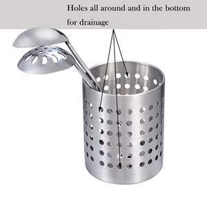 Organize Your Silverware Cutlery Bignay Stainless Steel Utensil Organizer Caddy Cooking Utensils 5
