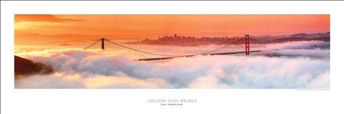 Award Winning Panoramic Art Print Poster #2- San Francisco Golden Gate Bridge At Dawn