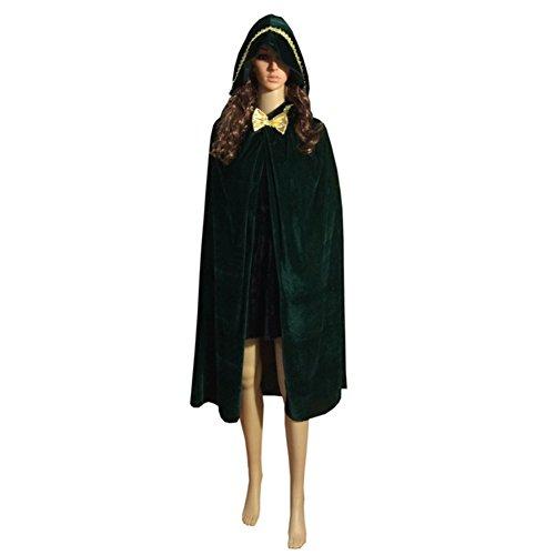 Smartcoco Halloween Cosplay Bow Tie Hooded Sleeveless Cloak Adult Halloween Party Costumes (Halloween Cistumes)