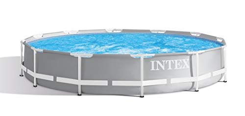 Intex 12 Foot x 30 Inches Durable Prism Steel Frame Above Ground Swimming Pool (Best Above Ground Pool)