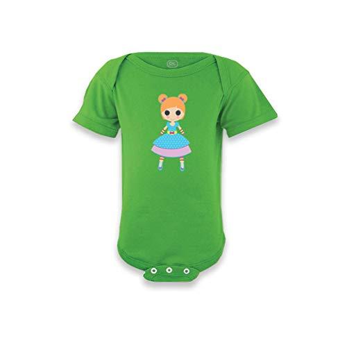 Cute Rascals Rag Doll Blue W Short Sleeve Envelope Neck Boys-Girls Cotton Baby Bodysuit One Piece - Apple Green, 18 - Infant Rag Bodysuit Doll