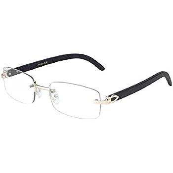 e0d0c8b4fd GIFT DEPOT® TM Rimless Rectangular Dapper Metal   Wood Eyeglasses   Clear Lens  Sunglasses - Frames (Rose Gold   Black Wood)