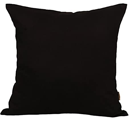 """Amazon TangDepot Cotton Solid Throw Pillow Covers 18"""" x 18"""