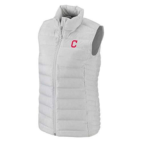 ドラッグ表現二年生Columbia Columbia Cleveland Indians Women's White Lake 22 Full-Zip Vest アウターウェア ジャケット/アウター 【並行輸入品】