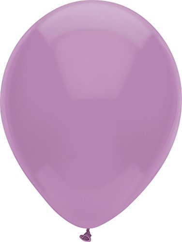 PartyMate 72116 Made in the USA Pastel Color 12-Inch Latex Balloons, 15-Count, Luscious Lavender