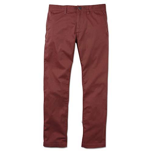 Volcom Men's Frickin Modern Fit Stretch Chino Pant, Bordeaux Brown, 40 (La Bordeaux Blend)