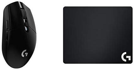 Logitech G305 Lightspeed - Ratón inalámbrico para Juegos, Negro + G240 Alfombrilla de Tela para Juegos.