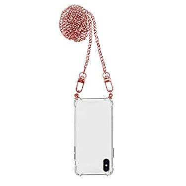 iPhone-Funda-antigolpes-Airbag-Transparente-Crystal-Clear-Funda-protectora-con-cadena-cadena-para-telefono-movil-iPhone-7-Plus8-Plus-rosa