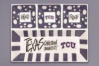 Magnolia Lane Collegiate Ceramic 4 Section Divided Tray (TCU Horned Frogs)