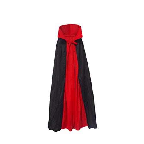 Cinhent Toys, 140CM / 90 cm Halloween Decoration Adults & Kids Cape Cloak Vampire Magician Costume Accessories Party Favors, Novelty Education Games, Role Play Props (90 cm Performance Cloak)
