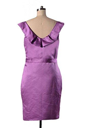 Scoop Evening Scarlet BM253 10 dark Neck Satin Gown Vintage DaisyFormals Bridesmaid Short Dress 7zxw05q