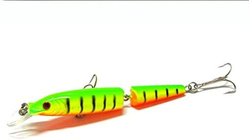 Tixgod Fishing Lures Spinner Crankbaits Hooks Baits Assorted Fish Tackle with 2 Hooks,Segmented Swimbaits Slow Sinking Bionic Swimming Lures Freshwater Saltwater Bass Fishing Lures Kit Lifelike