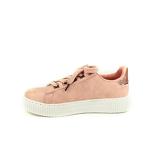 Rivets Chaussures Rose Paillettes EXQUILY Cendriyon Femme Sneakers wZz8gAt