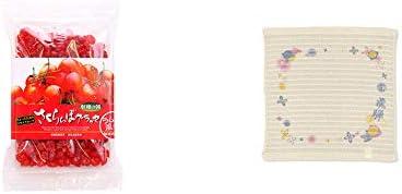 [2点セット] 収穫の朝 さくらんぼグラッセ ラム酒風味(180g)・(飛騨限定)さるぼぼ コラーゲンぷちたおる洗顔用【ベージュ】(綿100%)