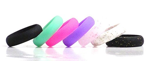 Pack Womens Silicone Wedding Rings product image