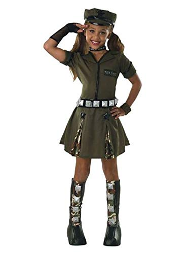 Marine Costume For Girls (Girls Major Cutie Army Costume L)