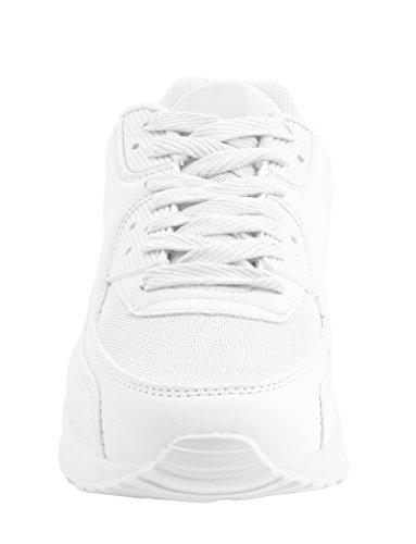 Elara Trendige Unisex Sneaker | Damen Herren Kinder Sport Laufschuhe | Turnschuhe | Chunkyrayan Weiss Santa Ana
