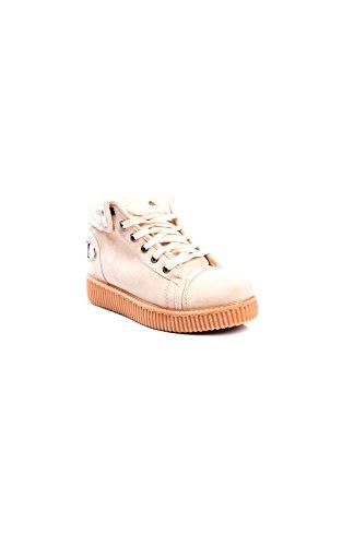 Hi Plate Suede Beige Ikrush top De Layla Faux Chaussures Womens forme PZwfIq81