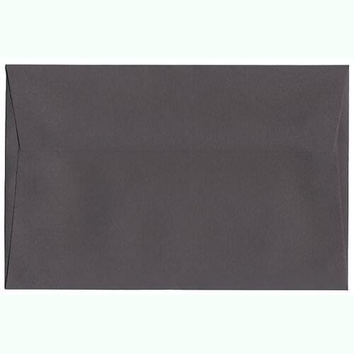 JAM Paper® A9 (5 3/4 x 8 3/4) Paper Invitation Envelope - Dark Gray - 50 envelopes per pack