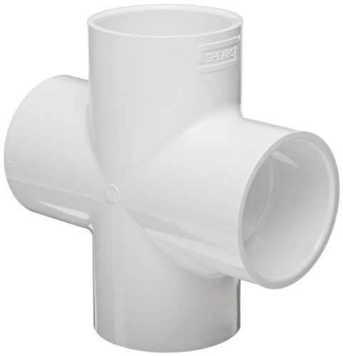 (Spears 420 Series PVC Pipe Fitting, Cross, Schedule 40, 2