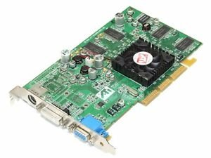 Agp Ati 7500 Radeon (ATI 109-83200-01 64MB AGP CARD, RADEON 7500 DDR WITH DVI VGA & SVIDEO OUTPUT)