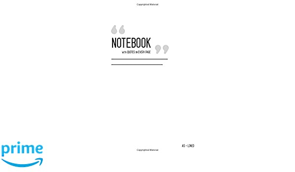 com notebook quotes on every page a medium lined