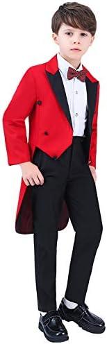 ボーイズテールコート2ピーススーツピークラペルジャケット&ウェディングパーティーのズボン