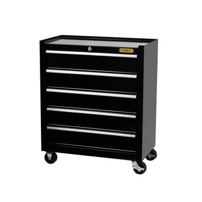 Stanley 24 in W 5-Drawer Tool Cabinet Black