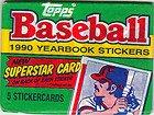Topps Baseball 1990 Yearbook Stickers ()