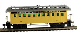 Model Power HO Old Time Coach, D&RGW CSM719008