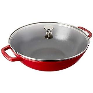 STAUB Cast Iron Perfect Pan, 4.5-quart, Cherry