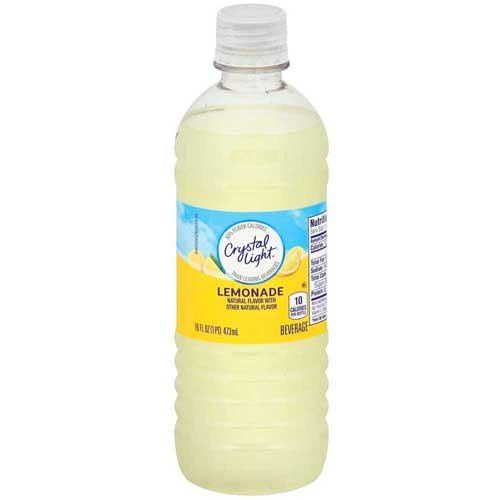 Crystal Light Juice - Crystal Light Ready To Drink Lemonade Sugar Free Single Serve Juice, 16 Fluid Ounce - 24 per case.