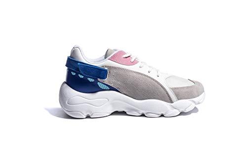 Sneakers Fitness Malla Otoño Deportivo 40eu Plataforma Zapatos uk Atletismo Correr De Para Life Chunky Running Alta Invierno Zapatillas Cordones Licy Azul 35eu Talón Calzado Casual Mujers qB0wHyOxqY
