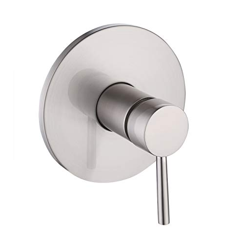 KES LB6701-2 Bathroom Single Handle Mixing Pressure Balance Valve Body and Trim Square, Brushed ()