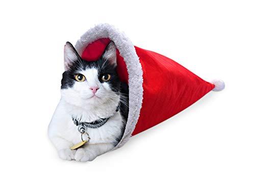 ASPCA Acc Festive Cat Scratch House w/Catnip, Cat Tunnel, Christmas Wands & Toys 1