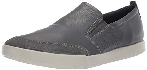 ECCO Men's Collin 2.0 Slip On Sneaker, Suede/Magnet, 43 M EU (9-9.5 US)