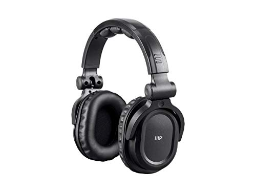 Monoprice Premium Hi-Fi DJ Style Over-The-Ear Pro Bluetooth Headphones with Mic and Qualcomm aptX Support (8323 with…