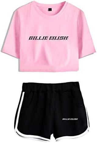 Simyjoy Billie Eilish Crop Top T Shirts And Shorts Suit Clothes Set Pink Medium Amazon Com Au Fashion