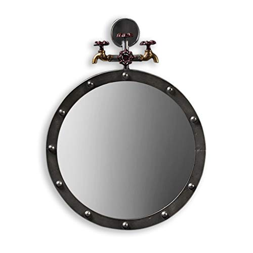 JN Bathroom Vanity Mirror With Large Round Faucet Wall-mounted Vanity Mirror With -