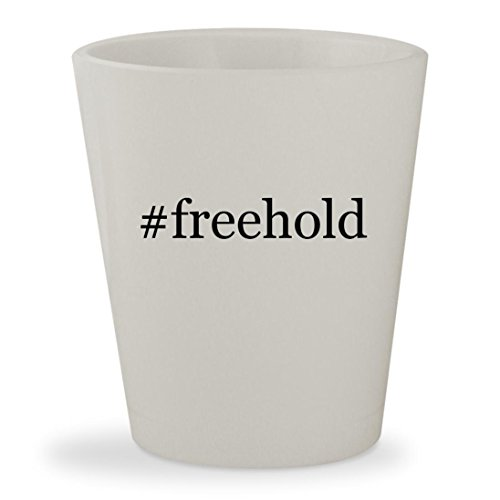 #freehold - White Hashtag Ceramic 1.5oz Shot - Nj Mall Freehold