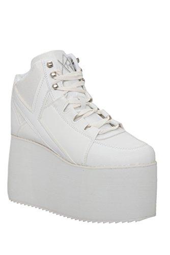 YRU Qozmo Hi-White Platform Sneakers by Y.R.U. (Image #2)