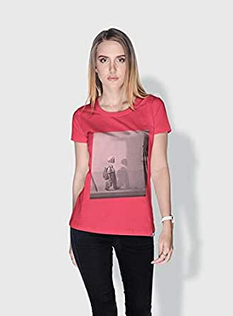 Creo Kid Skulls T-Shirts For Women - Xl, Pink