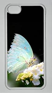 MMZ DIY PHONE CASEBeautiful butterfly customized Hard iphone 4/4s PC transparent Case