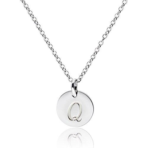 - THREE KEYS JEWELRY Stainless Steel Silver Tone Initial Alphabet 0.4