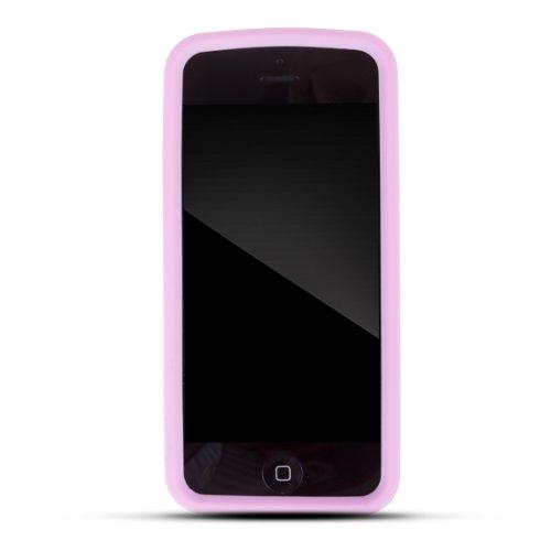 Zooky® Rosa Piano Silikon Schutzhülle / Hülle / Cover für Apple iPhone 5 / 5s